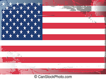 Grunge flag series-USA