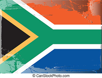 Grunge flag series-South Africa