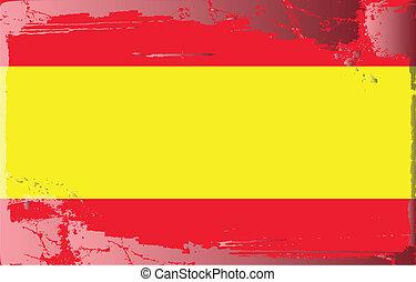 Grunge flag series-Spain