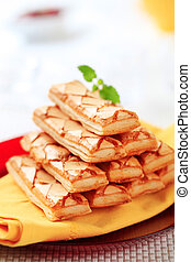 Sfogliatine - Italian puff pastries - Stack of Sfogliatine...