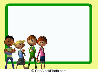 a group of children card