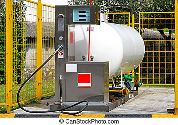 Liquefied petroleum gas - LPG gas station for autogas with...