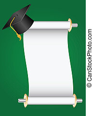 graduation - diploma and cap