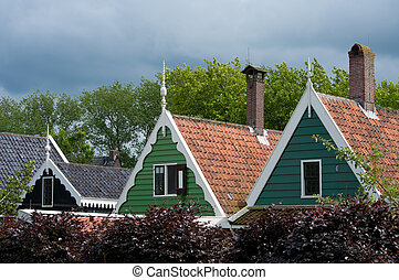 traditional dutch houses - facades of traditional dutch...