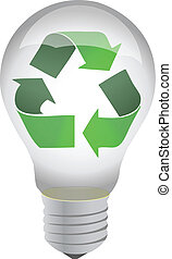 recycle lightbulb illustration