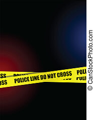 Police line do not cross background illustration
