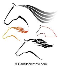 馬, シンボル, ベクトル