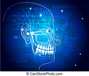 Abstract teeth nerves background - Abstract medical...