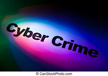 Cyber Crime - Color light and word of Cyber Crime for...