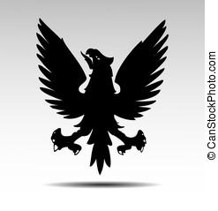 Eagle - Heraldic symbols of an eagle vector