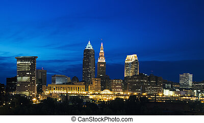 Night in Cleveland - Night in the center of Cleveland, Ohio