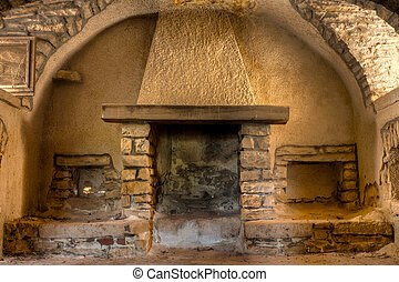 Fireplace in a Farmhouse - Old Fireplace in a Farmhouse...