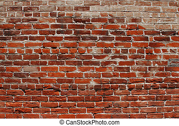 Brick wall background - Background of an old weathered brick...