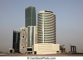Modern highrise buildings in Dubai, United Arab Emirates