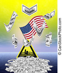 America is drowning in debts - The United States have...