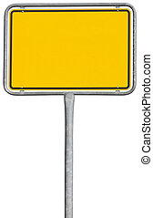yellow placement sign (clipping path included) - yellow...