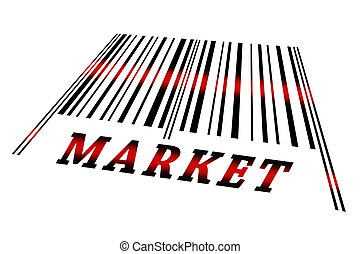 Market on barcode - Market word on barcode scanned