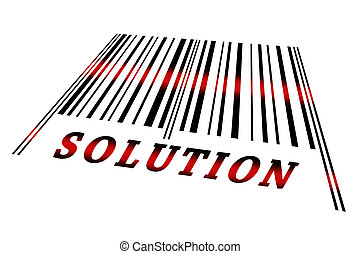 Solution on barcode - Solution word on barcode scanned