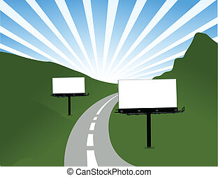Billboard road illustration design