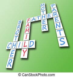 Family on crossword