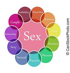 Sex illustration - Color diagram illustration of Sex