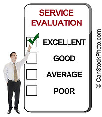 Service Evaluation - Business man pointing Service...