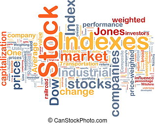 Stock indexes background concept - Background concept...