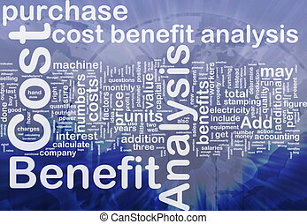 Cost benefit analysis background concept - Background...