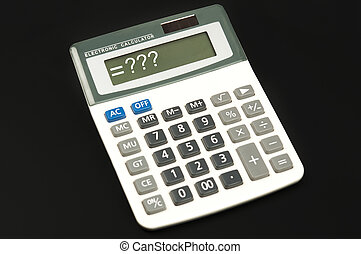 Questions sign on electronic calculator