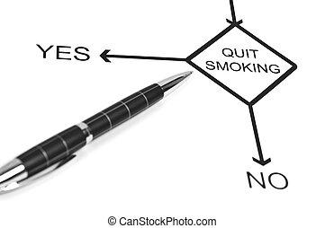 Quit smoking - Yes or No to choose Quit smoking