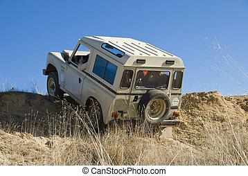 4x4 extreme driving. - Enjoying driving a classic 4x4 car...