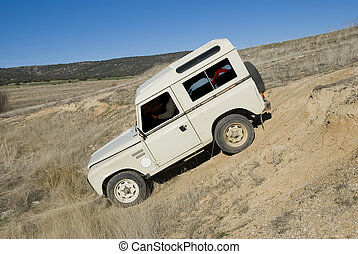 Action with an old 4x4. - Enjoying driving a classic 4x4 car...