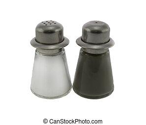 Salt & Pepper Shaker isolated over white background