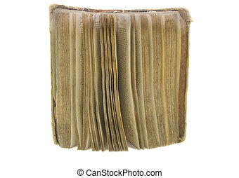 very old bible on the white background