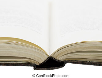 open book for reading isolated on white