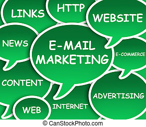 E-mail marketing cloud - Illustration of clouds about E-mail...