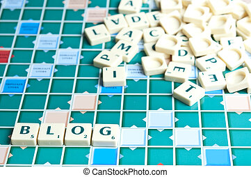 Blog word with scrabble pieces