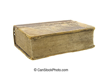 very old bible isolated over white background