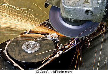 angular grinder cleaning data from hard drive - angular...