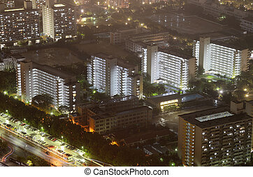 Residential High Rises - Residential high rises on a hazy...