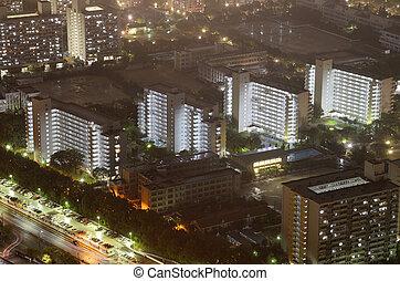 Residential High Rises - Residential high rises on a hazy...