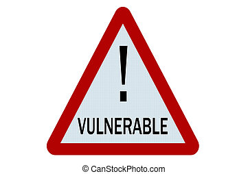 Vulnerable sign illustration on white background