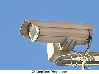 Close-up of a security digital cctv camera