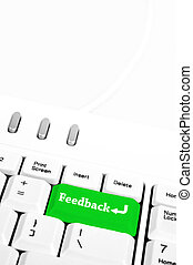 Feedback key - Feedback in place of enter key