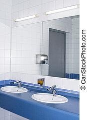 Modern interior of private restroom