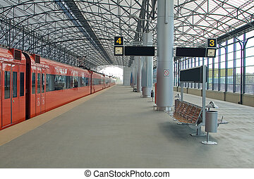 Train station Sheremetyevo, Moscom, Russia