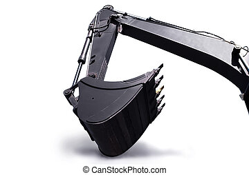 Shovel bucket against white background
