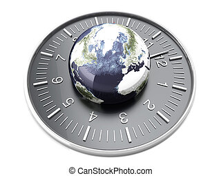 World Time - World time. 3D rendered Illustration. Isolated...