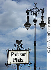 Street Sign Pariser Platz Berlin - Pariser Platz is a square...