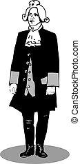 Man in retro suit